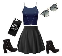 """#me"" by leamarievela ❤ liked on Polyvore featuring Ray-Ban and Links of London"