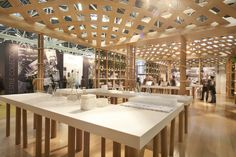 Wow!!! This is fantastic exhibition design by Shigeru Ban Architects. It is so interesting and natural looking.