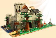 ~ Lego MOCs Fantasy ~ Estuary Stronghold: A LEGO® creation by Eggy Pop : MOCpages.com