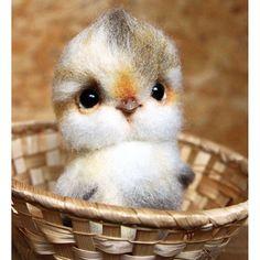 Beautiful Needle felting wool project cute owl(Via @anna_ribalchenko)