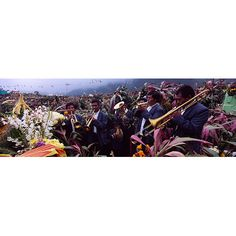 East Urban Home Panoramic Musicians Celebrating All Saint's Day by Playing Trumpet, Zunil, Guatemala Photographic Print on Canvas Size:
