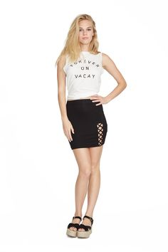 Vacay Crew Neck Muscle Tee. Clayton 2016 Resort Collection.