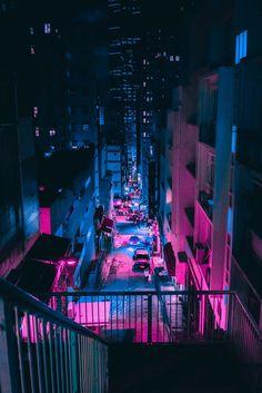 steve roe vaporwave cyberpunk photography is a neon urbanism captured during a trip throughout tokyo, hong kong, and macau. Cyberpunk City, Ville Cyberpunk, Cyberpunk Aesthetic, Cyberpunk 2077, Cyberpunk Tattoo, Cyberpunk Fashion, Neon Wallpaper, Trendy Wallpaper, Cute Wallpapers