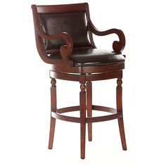 Have to have it. Bolton 30-Inch Swivel Bar Stool with Arms - Chestnut $299.99