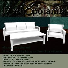 Meshopotamia Mission style Garden furniture
