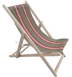 Deck Chairs with Kungfu Vintage Canvas