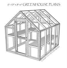 """6'-10"""" X 8'-0"""" Greenhouse Plans - PDF Version"""