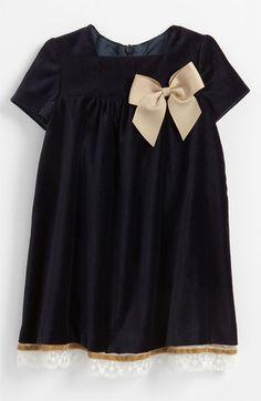 Luli & Me Velvet Dress (Infant) available at Nordstrom