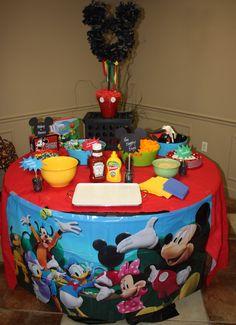 Mickey Mouse Birthday perfect idea for Josh's 2nd bday