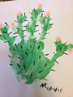 Cute Cactus painting, cute and incredibly easy! Cute Cactus painting, cute and incredibly easy! Cute Cactus painting, cute and incredibly easy! Cute Cactus painting, cute and incredibly easy! Spring Crafts For Kids, Summer Crafts, Art For Kids, Daycare Crafts, Baby Crafts, Fun Crafts, Toddler Art, Toddler Crafts, Cactus Craft