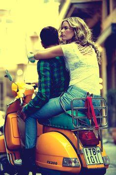 Bike rides together. | Vespa PX 200
