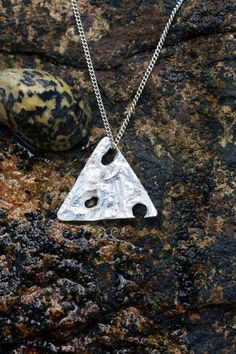Studio Ag 47 at etsy Australian made silver necklace 40 Jewelry Design, Unique Jewelry, Dog Tag Necklace, Triangle, Studio, Trending Outfits, Pendant, Handmade Gifts, Silver