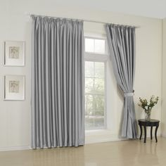 Classic Solid Grey Room Darkening Curtain   #curtains #decor #homedecor #homeinterior #grey
