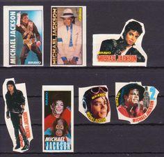MICHAEL JACKSON USA MUSIC 7 RARE BRAVO SMALL VINTAGE OLD STICKERS R16602