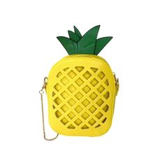 Fashion Culture Aloha Tropical Pineapple Crossbody, Yellow ($23) ❤ liked on Polyvore featuring bags, handbags, shoulder bags, summer handbags, crossbody travel handbags, yellow handbags, travel shoulder bags and travel purse