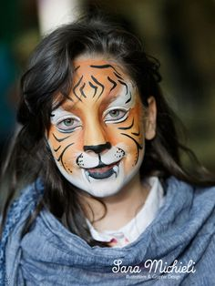 Sara Michieli - #truccabimbi #facepainting #tiger foto © francesco veronese  per saperne di piùhttp://saramichieli.com/truccabimbi/tigri/