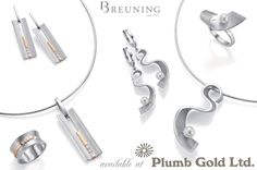 Breuning rhodium plated sterling silver available at Plumb Gold Ltd.
