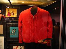 Fred Rogers Sweater at Smithsonian in PA.  All of his different colored zipper cardigan sweaters were knit by his Mother.