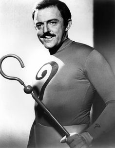 The Riddler (John Astin) . Astin briefly took over the role of the Riddler in TV's Batman after Frank Gorshin, having been denied a pay raise, left the show. Batman Cast, Batman Tv Show, Batman Tv Series, Batman 1966, Batman And Superman, Batman Robin, Dc Comic Books, Comic Book Heroes, Batgirl