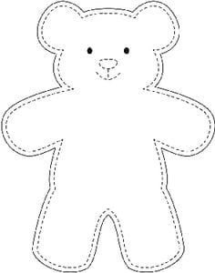 Sample teddy bear template wikihow best 10 easy 10 beginner sewing projects projects are readily available on our web pages check it out and you wont be sorry you did beginn Teddy Bear Outline, Teddy Bear Template, Diy Teddy Bear, Teddy Bear Sewing Pattern, Teddy Bear Crafts, Free Teddy Bear Patterns, Mini Teddy Bears, Big Teddy, Fabric Doll Pattern