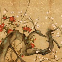 Cherry Tree Artistic iPad wallpaper