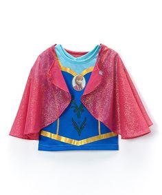 Loving this Blue & Pink Frozen Top & Cape - Toddler & Girls on #zulily! #zulilyfinds