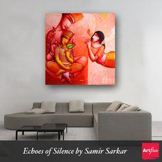 Original | Figurative | For Your Empty Walls | Samir Sarkar | Painting | Acrylic  #homedecor #home #wall #art #painting #NoMoreEmptyWalls #figurative #human #figures #nature