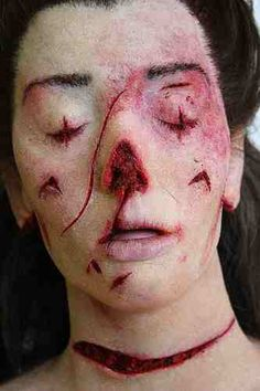"""Catherine Eddowes - A shocking reconstruction of her upper body injuries. She was the 2nd victim of the so called """" DOUBLE EVENT."""""""