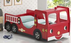 My First Fire Engine Bed - from The Bean Bag Store- fits a twin mattress.