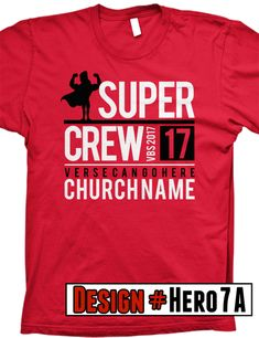 Super Hero VBS 2017 T Shirt Design  FREE Shipping  All Designs Can Be