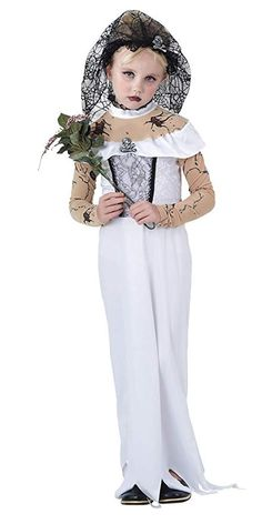 Girls Ghost Zombie Corpse Bride Fancy Dress Up Halloween Book Week Kids Costume Zombie Bride Fancy Dress, Adult Fancy Dress, Fancy Dress Up, Fancy Dress Outfits, Dress Clothes, Costume Halloween, Childrens Halloween Costumes, Halloween 2015, Halloween Ideas