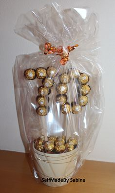 SelfMadeby Sabine: Ferrero Rocher Geburtstagsüberraschung - New Sites 70th Birthday, Happy Birthday Cards, Birthday Greeting Cards, Birthday Greetings, Birthday Gifts, Surprise Birthday, Free Birthday, Anniversary Funny, Boyfriend Anniversary Gifts