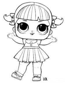 Lol Surprise Doll Coloring Pages Cheer Captain Coloring Page Lol Dolls Doll Drawing Coloring Pages
