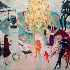 Verbal Description: Florine Stettheimer, Christmas, 1930 by The Jewish Museum on SoundCloud 20th Century Painters, New York Winter, Cubism Art, Jewish Museum, Unusual Art, Post Impressionism, Winter Scenes, Community Art, Art World