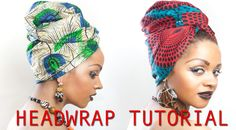 Uroobah African Headwrap tutorial in just 2 minutes
