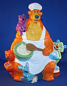 *BEAR IN THE BIG BLUE HOUSE  From Disney ~ Cookie Jar. OMG I USED TO LOVE THIS SHOW!