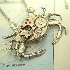 Steampunk Crab Necklace