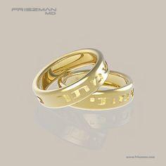 """Alianças de ouro 18k Bithiah são o símbolo maior da celebração do encontro amoroso de duas almas. Alianças em hebraico acrescentam significado e valor espiritual a esse símbolo máximo de união. Benção: """"MINHA ALMA, SUA ALMA"""". Confeccionadas em ouro 18k polido com escrita em baixo relevo em ouro 18k fosco, alianças de ouro sempre valorizam e expressam a exclusividade, com luxo e elegância. #aliancas #aliancasdeouro #aliancascomsignificado #casamento"""