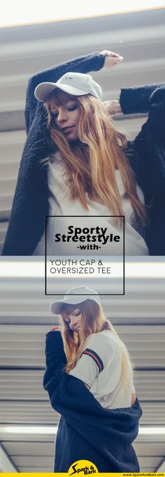 Sportlicher Streetstyle Berlin, Youth Cap und oversized T-Shirt in Übergröße
