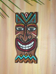 TIKi Mask wooden wall decor   Wooden wall decor, Tiki mask and ...