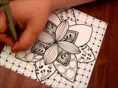 Great video!  5x5 Zentangle - YouTube  I watched it muted and was enthralled.