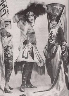 Vaudeville Princesses | 1921  Unidentified African American vaudevillian actresses that performed in a Eubie Blake & Noble Sissle theatrical production, 1921.