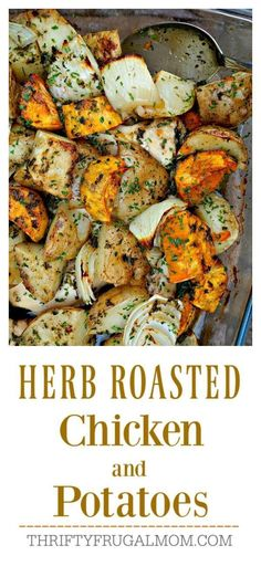 Herb Roasted Chicken and Potatoes is the easiest recipe ever and so incredibly delicious, too. Its sure to be a family favorite!