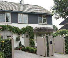 Gmlens Country House (Belgium) - traditional - exterior - - by gregory lens Design Exterior, Grey Exterior, Exterior Colors, Exterior Paint, Exterior Windows, Garage Design, Exterior House Colour Schemes, Modern Exterior, House Cladding