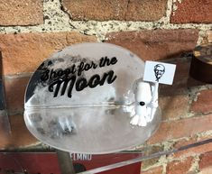 """Shoot for the Moon"" Award Laser Cut Acrylic, Laser Cutting, Moon, Invitations, The Moon, Save The Date Invitations, Shower Invitation, Invitation"