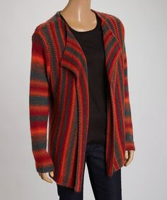 Spice Wool-Blend Open Cardigan by ravel on #zulily