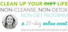 Elizabeth Rider's 21 Day Clean Up Your Diet Online Nutrition Program. Program starts March 24th. Register today at www.cleanupyourdiet.com!