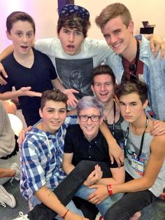 Jc Caylen, Tyler Oakley, Kian Lawley (future husband), Sam Pottorff, Trever Moran, Connor Franta, and Ricky Dillon. Best people!