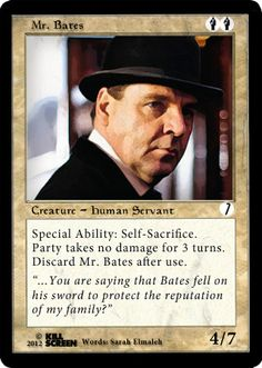 Downton card playing game