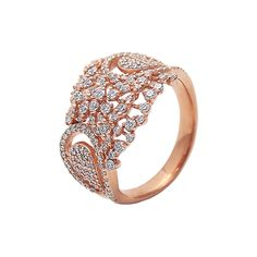 Round diamond ring crafted in gold by Anmol Jewellers. Buy online at Velvetcase.com